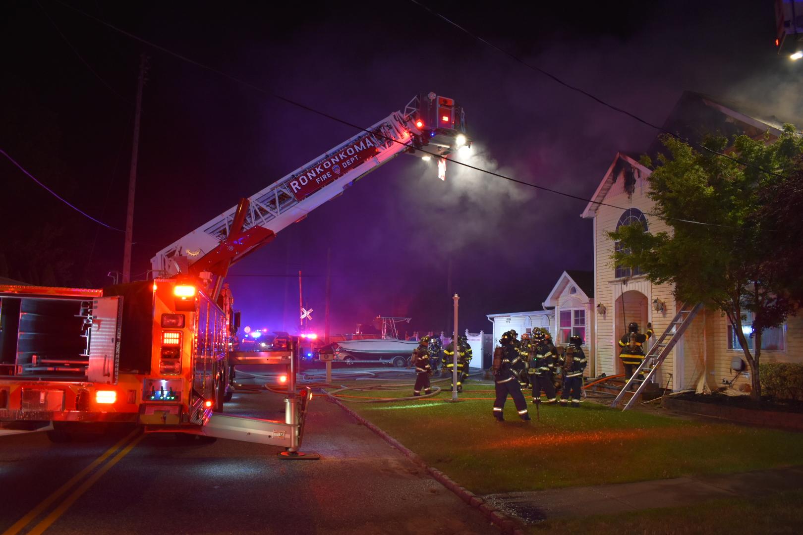 House Fire On Knickerbocker Avenue In Ronkonkoma